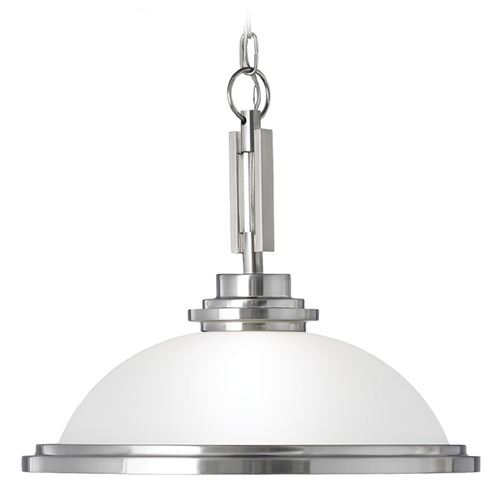 Sea Gull Lighting Sea Gull Lighting Winnetka Brushed Nickel Pendant Light 65660BLE-962