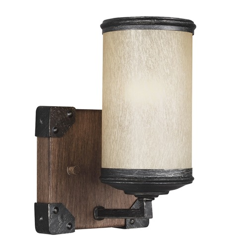 Sea Gull Lighting Sea Gull Lighting Dunning Stardust / Cerused Oak Sconce 4113301-846