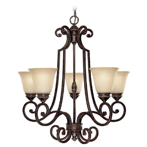 Capital Lighting Capital Lighting Barclay Chesterfield Brown Chandelier 3585CB-287