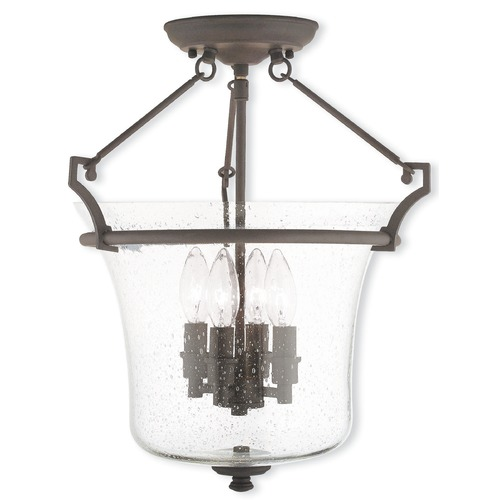 Livex Lighting Livex Lighting Buchanan Bronze Semi-Flushmount Light 50405-07