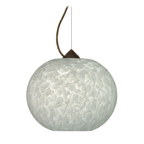 Besa Lighting Besa Lighting Luna Bronze LED Pendant Light with Globe Shade 1KX-477619-LED-BR