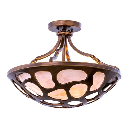 Kalco Lighting Kalco Gramercy Copper Patina Semi-Flushmount Light 501951CP