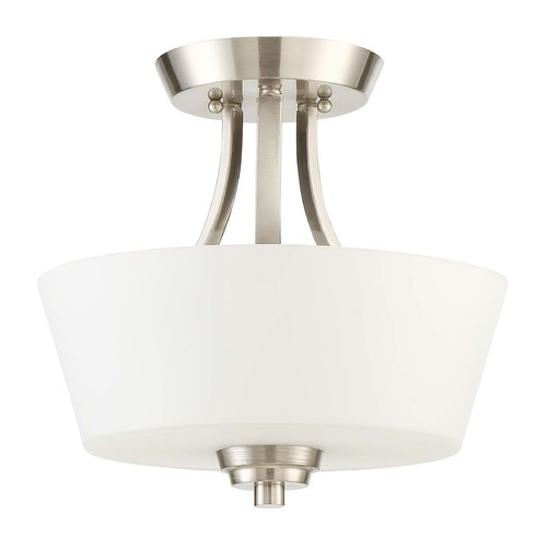 Craftmade Lighting Craftmade Lighting Grace Brushed Polished Nickel Semi-Flushmount Light 41952-BNK
