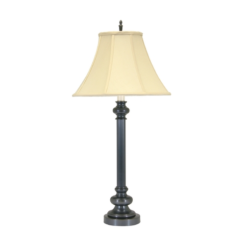House of Troy Lighting Table Lamp with White Shade in Oil Rubbed Bronze Finish N652-OB