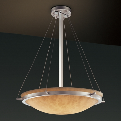 Justice Design Group Justice Design Group Clouds Collection Pendant Light CLD-9692-35-NCKL