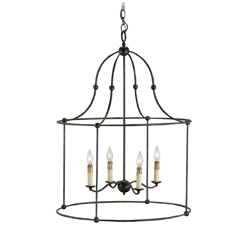 Currey and Company Lighting Traditional Pendant Light in Mayfair Finish 9160