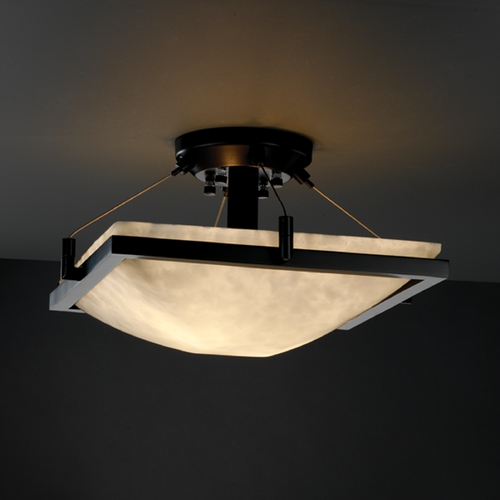 Justice Design Group Justice Design Group Clouds Collection Semi-Flushmount Light CLD-9780-25-MBLK