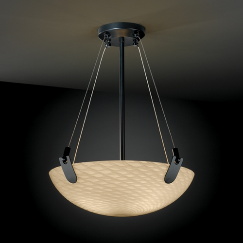 Justice Design Group Justice Design Group Fusion Collection Pendant Light FSN-9621-35-WEVE-MBLK