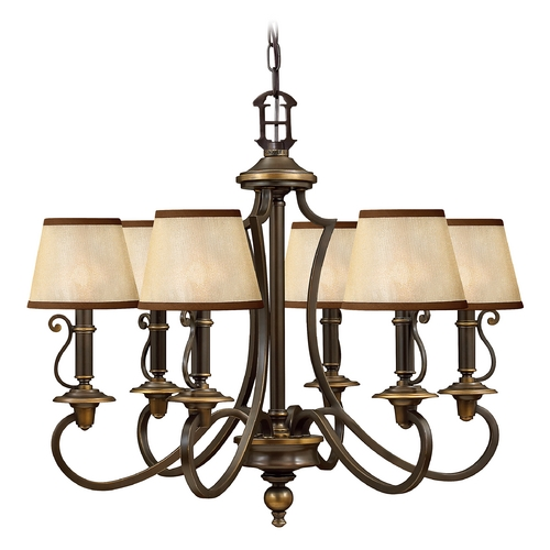 Hinkley Lighting Colonial Bronze Chandelier with Six Lights  4246OB