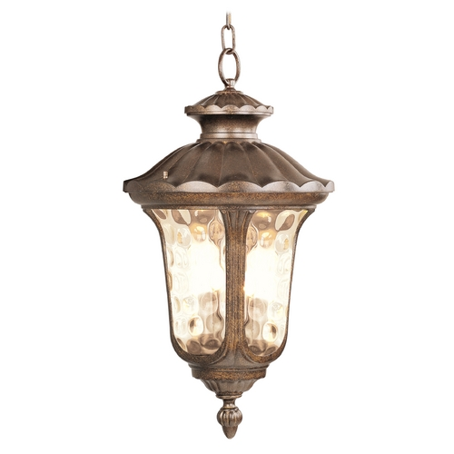 Livex Lighting Livex Lighting Oxford Moroccan Gold Outdoor Hanging Light 7665-50