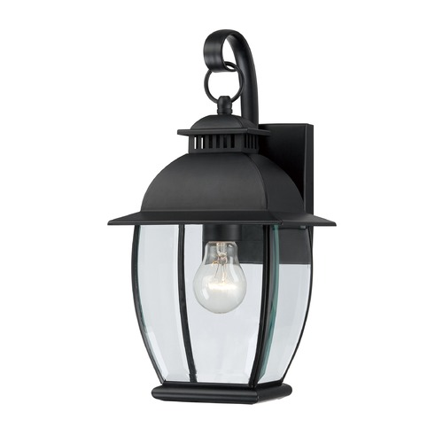 Quoizel Lighting Quoizel Bain Mystic Black Outdoor Wall Light BAN8407KFL