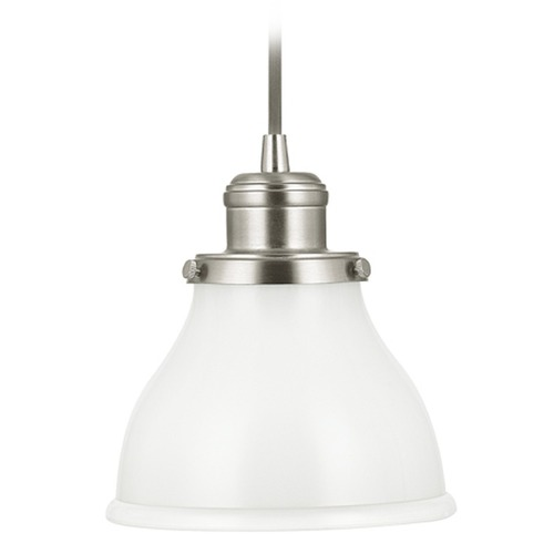 Capital Lighting Capital Lighting Baxter Brushed Nickel Mini-Pendant Light with Bowl / Dome Shade 4551BN-128