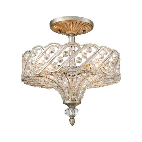 Elk Lighting Elk Lighting Cumbria Aged Silver Semi-Flushmount Light 11922/4