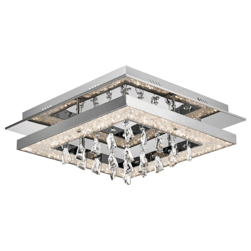 Elan Lighting Elan Lighting Crushed Ice Chrome LED Flushmount Light 83430