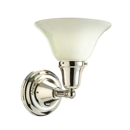Hudson Valley Lighting Sconce with White Glass in Polished Nickel Finish 581-PN-415