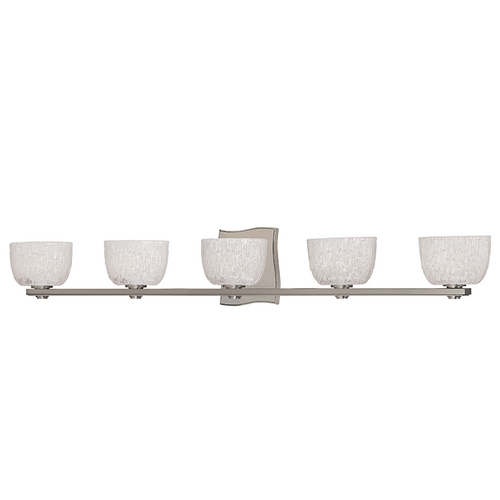 Hudson Valley Lighting Modern Bathroom Light with White Glass in Satin Nickel Finish 2665-SN