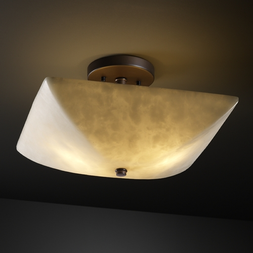 Justice Design Group Justice Design Group Clouds Collection Semi-Flushmount Light CLD-9695-25-DBRZ
