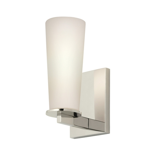 Sonneman Lighting Modern Sconce Wall Light with White Glass in Polished Nickel Finish 4920.35