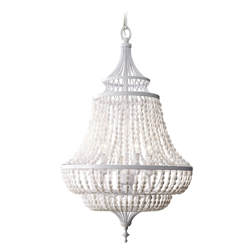Feiss Lighting Chandelier in White Semi Gloss Finish F2807/4WSG