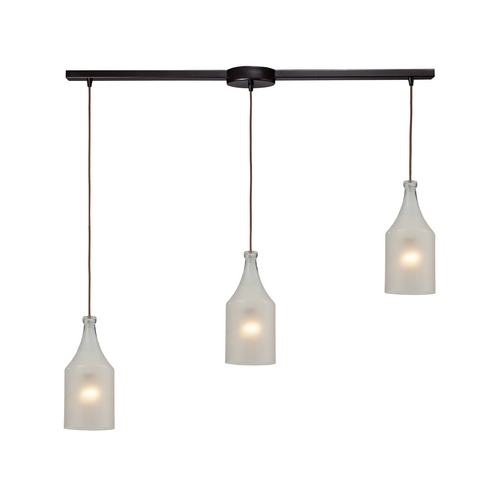 Elk Lighting Multi-Light Pendant Light with White Glass and 3-Lights 46005/3L