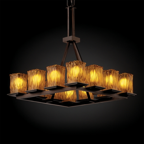 Justice Design Group Justice Design Group Veneto Luce Collection Chandelier GLA-8663-26-AMBR-DBRZ
