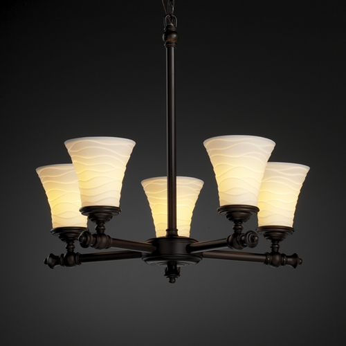 Justice Design Group Justice Design Group Limoges Collection Chandelier POR-8520-20-WAVE-DBRZ