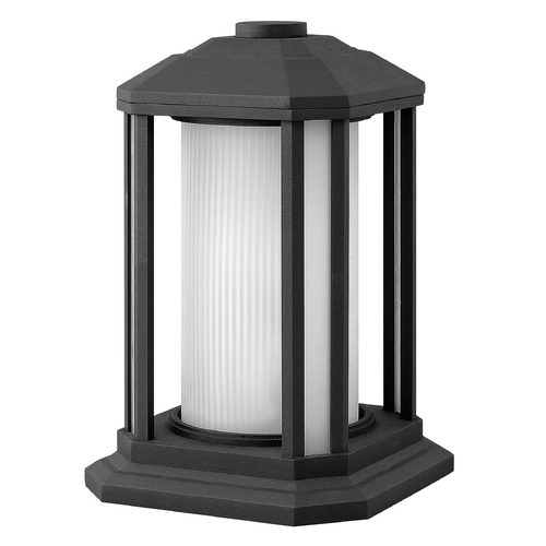 Hinkley Lighting Post Light with White Glass in Black Finish 1397BK-GU24
