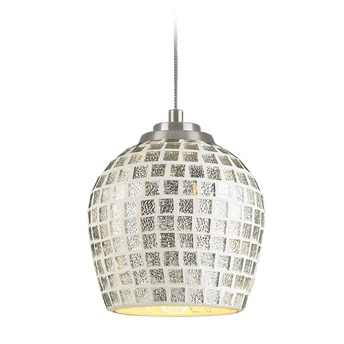 Elk Lighting Low Voltage Mini-Pendant Light with Silver Glass PF1000/1-MR16-BN-SLV