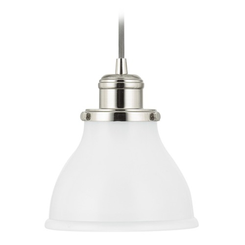 Capital Lighting Capital Lighting Baxter Polished Nickel Mini-Pendant Light with Bowl / Dome Shade 4551PN-128