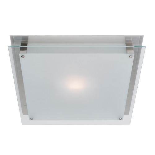 Access Lighting Access Lighting Vision Brushed Steel LED Flushmount Light 50031LEDD-BS/FST