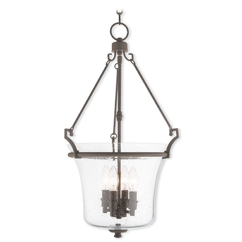 Livex Lighting Livex Lighting Buchanan Bronze Pendant Light with Bowl / Dome Shade 50406-07