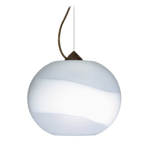 Besa Lighting Besa Lighting Luna Bronze LED Pendant Light with Globe Shade 1KX-477699-LED-BR