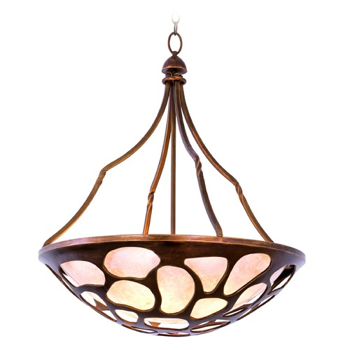 Kalco Lighting Kalco Gramercy Copper Patina Pendant Light with Bowl / Dome Shade 501953CP