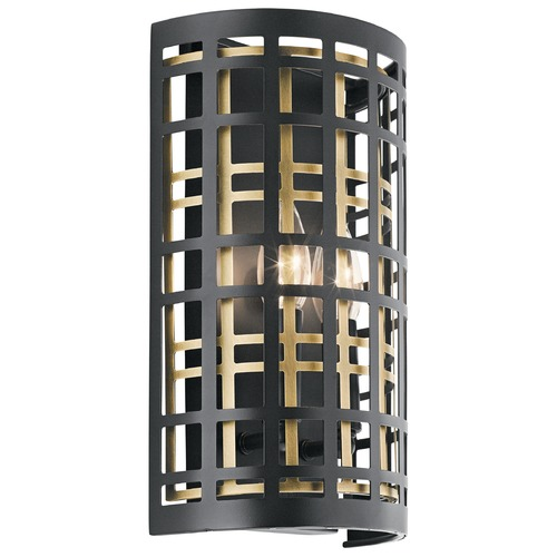 Kichler Lighting Sconce Black Aldergate by Kichler Lighting 44079BK