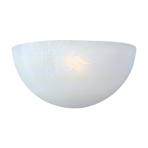 Maxim Lighting Sconce Wall Light with White Glass in White Finish 20585MRWT