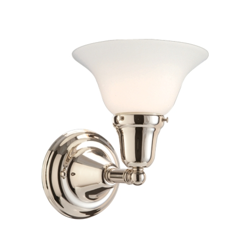Hudson Valley Lighting Sconce with White Glass in Polished Nickel Finish 581-PN-415M