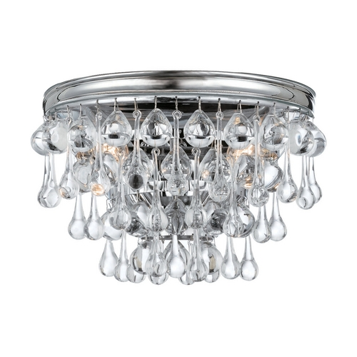 Crystorama Lighting Crystal Sconce Wall Light in Polished Chrome Finish 132-CH