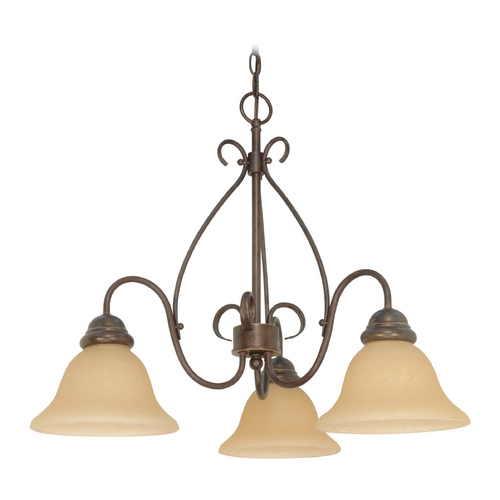 Nuvo Lighting Chandelier with Beige / Cream Glass in Sonoma Bronze Finish 60/1021
