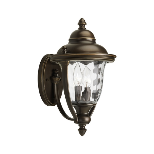 Progress Lighting Progress Oil Rubbed Bronze Outdoor Wall Light with White Glass P5921-108