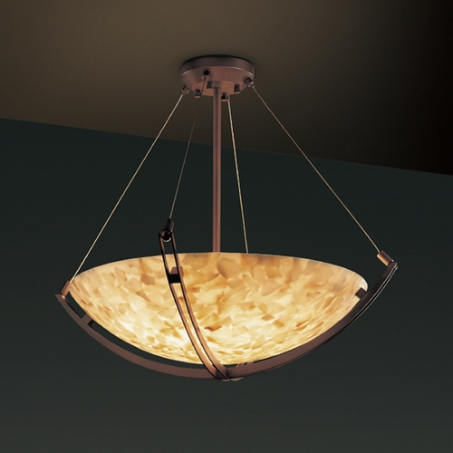 Justice Design Group Justice Design Group Alabaster Rocks! Collection Pendant Light ALR-9727-35-DBRZ
