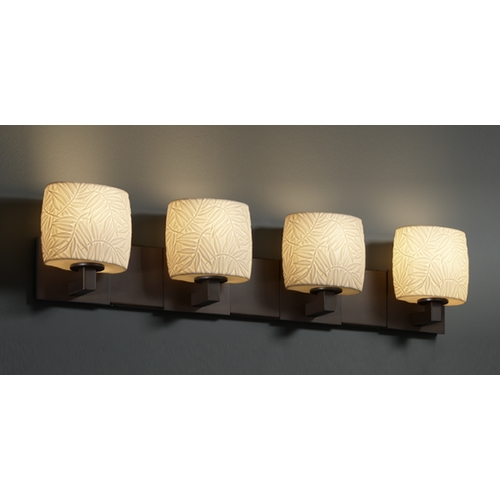 Justice Design Group Justice Design Group Limoges Collection Bathroom Light POR-8924-30-BMBO-DBRZ