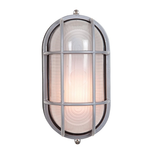 Access Lighting Access Lighting Nauticus Satin Nickel Outdoor Wall Light C20292SATFSTEN1118BS