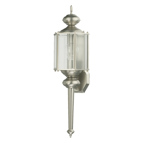 Quorum Lighting Quorum Lighting Lantern Satin Nickel Outdoor Wall Light 712-65