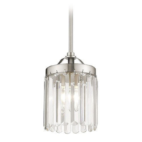 Livex Lighting Livex Lighting Ashton Brushed Nickel Mini-Pendant Light 50530-91