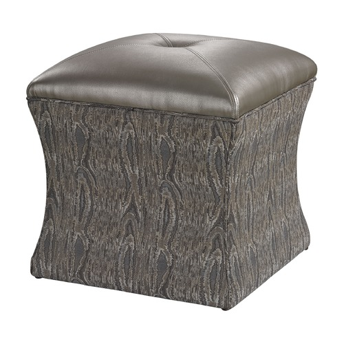 Sterling Lighting Luxe Ottoman - Grey 139-010