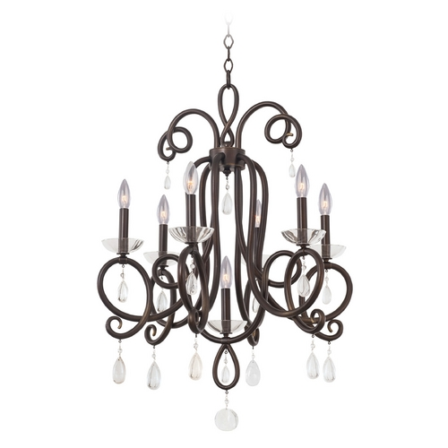 Kalco Lighting Kalco Lighting Winona Tarnished Brass Chandelier 7227TB