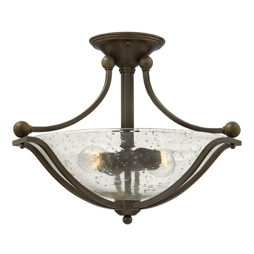 Hinkley Lighting Hinkley Lighting Bolla Olde Bronze Semi-Flushmount Light 4651OB-CL