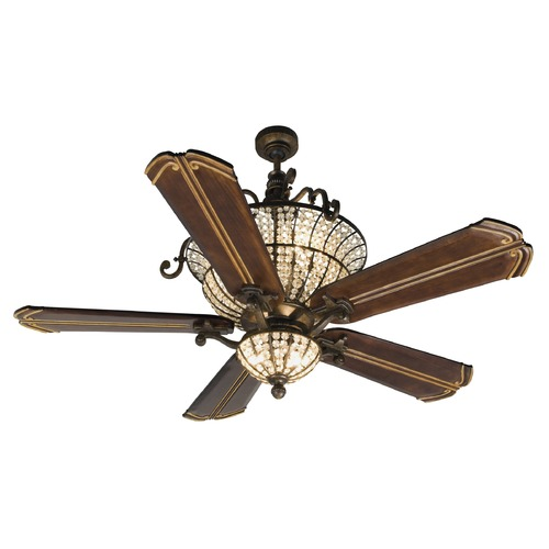 Craftmade Lighting Craftmade Lighting Cortana Peruvian Bronze Ceiling Fan with Light K10662