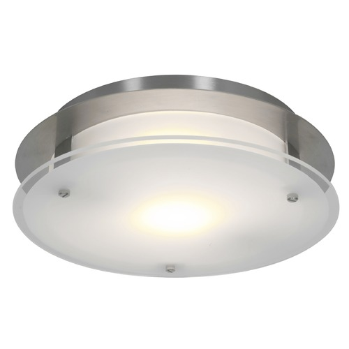 Access Lighting Access Lighting Visionround Brushed Steel LED Flushmount Light 50037LEDD-BS/FST