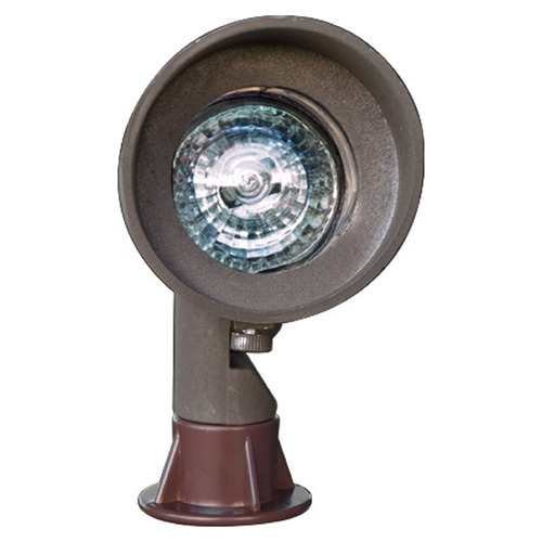Dabmar Lighting Bronze Cast Aluminum Directional Spot Light with Hood LV130-BZ